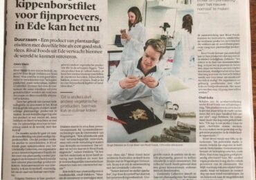 Chicken brest filet development featured in Trouw